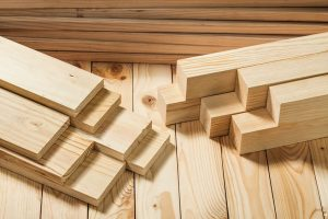 wooden timber on wood board background close up